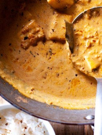 Halloumi Coconut Butter Masala Curry
